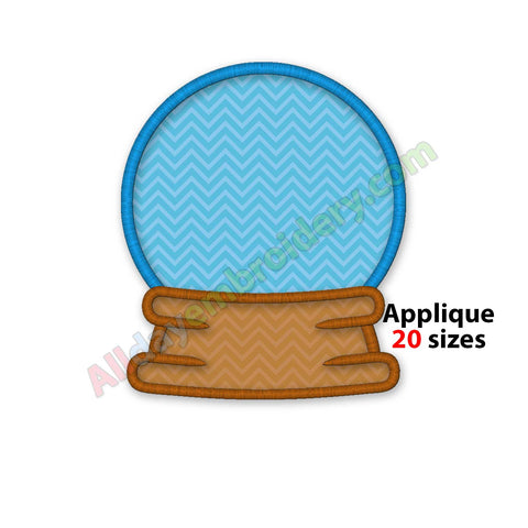 Snow globe embroidery design