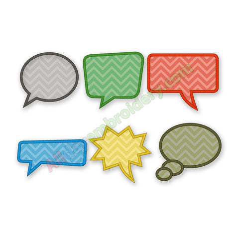Speech bubble embroidery
