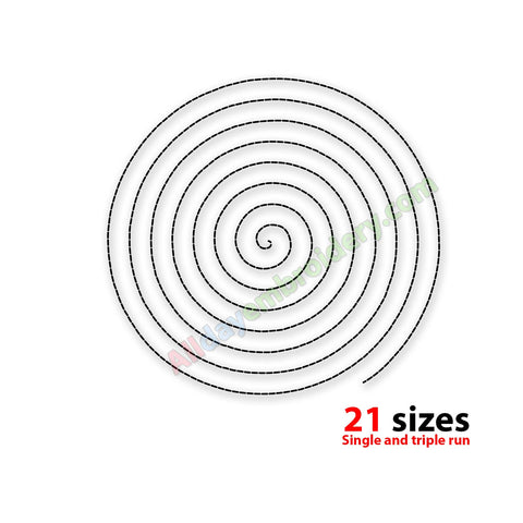 Spiral machine embroidery design