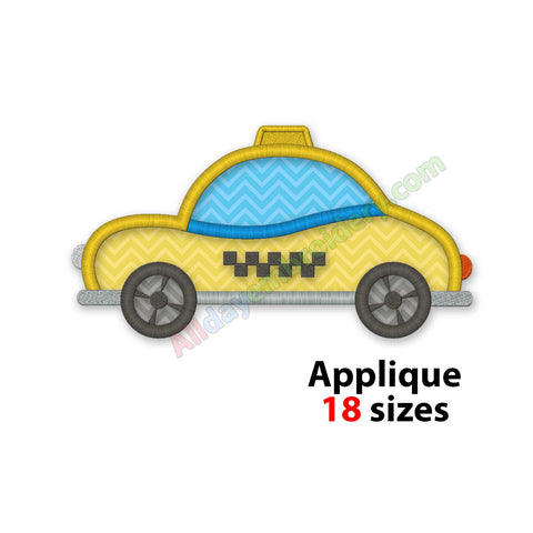 Taxi embroidery design