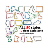 US states applique design