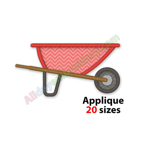 Wheelbarrow embroidery design