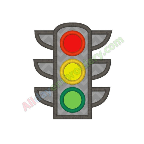 Traffic lights applique - Alldayembroidery.com