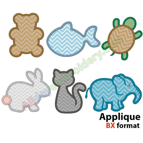 Animal applique set