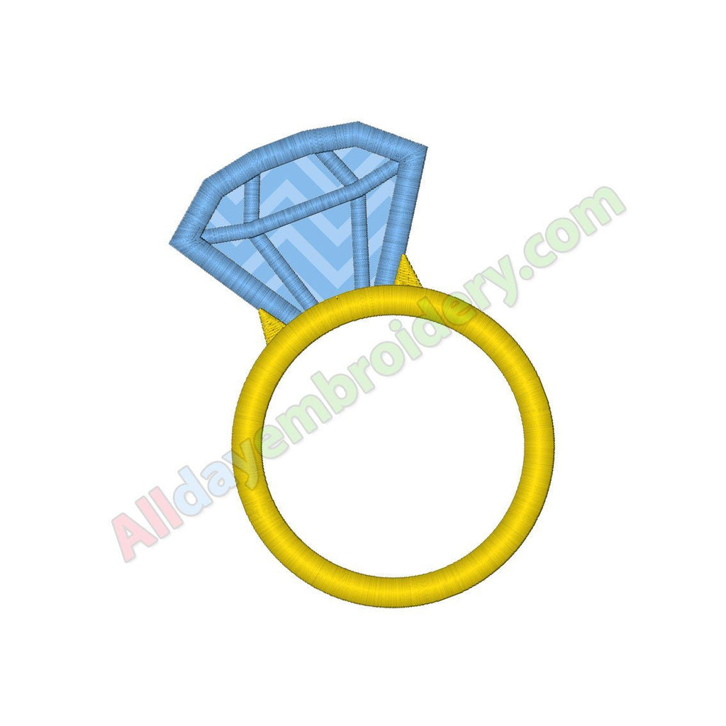 Diamond ring applique