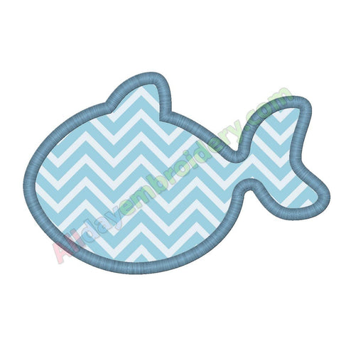 Fish outline applique