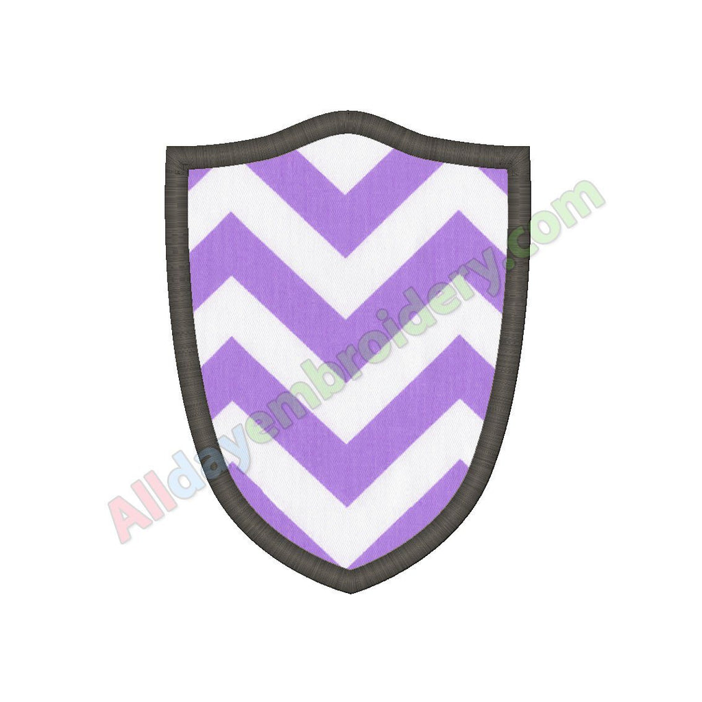 Shield applique - Alldayembroidery.com