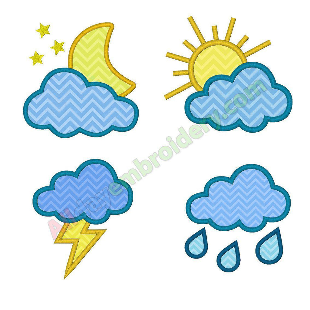 Weather applique SET - Alldayembroidery.com
