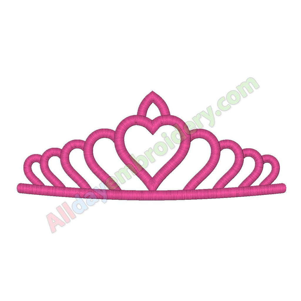 Princess tiara embroidery