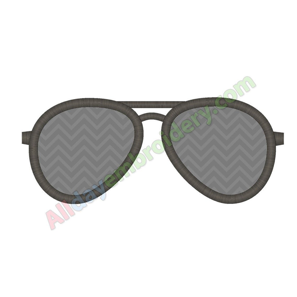 Aviator shades applique
