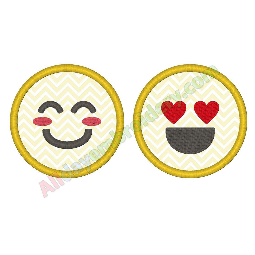Smiley applique - Alldayembroidery.com
