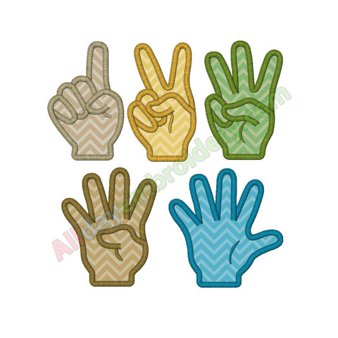 Hand numbers applique