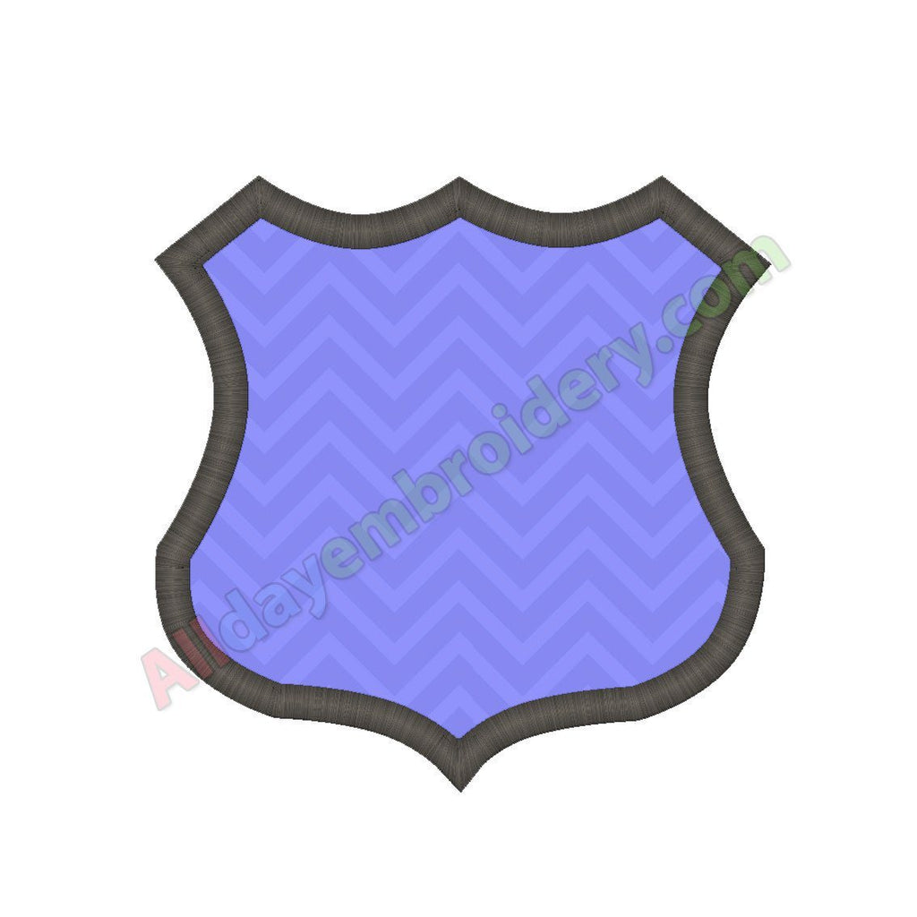 Police badge applique