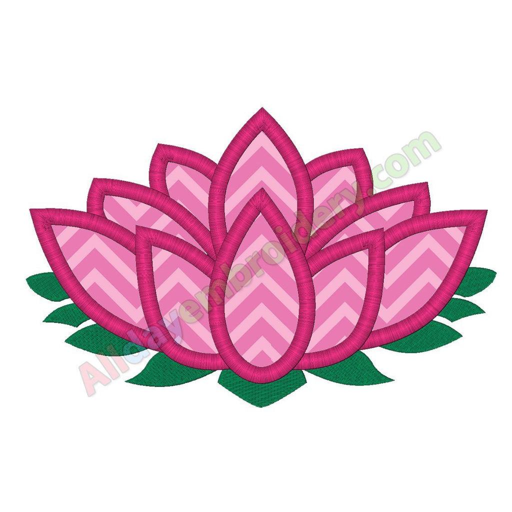 Lotus flower applique