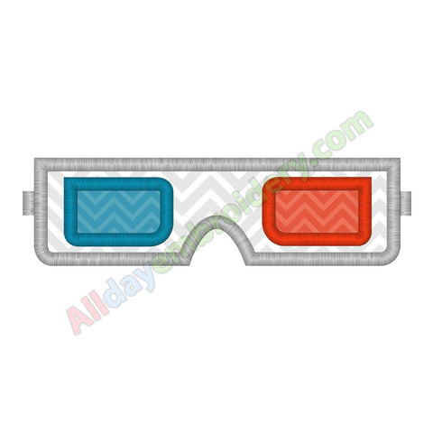3D glasses applique