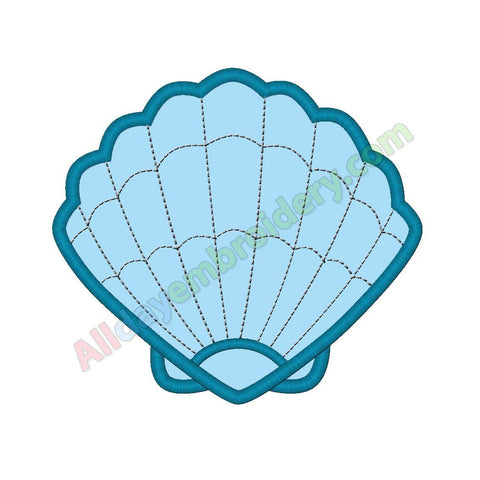 Sea shell applique - Alldayembroidery.com