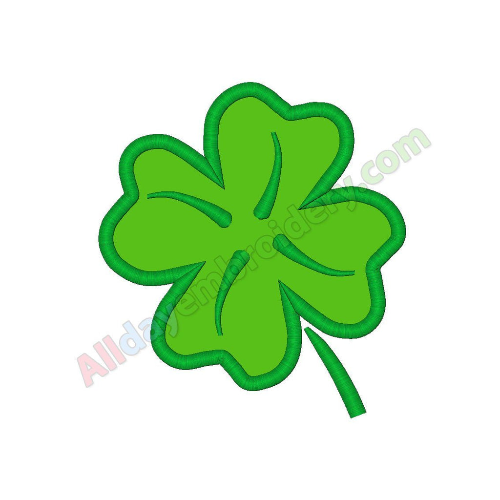 Clover leaf applique