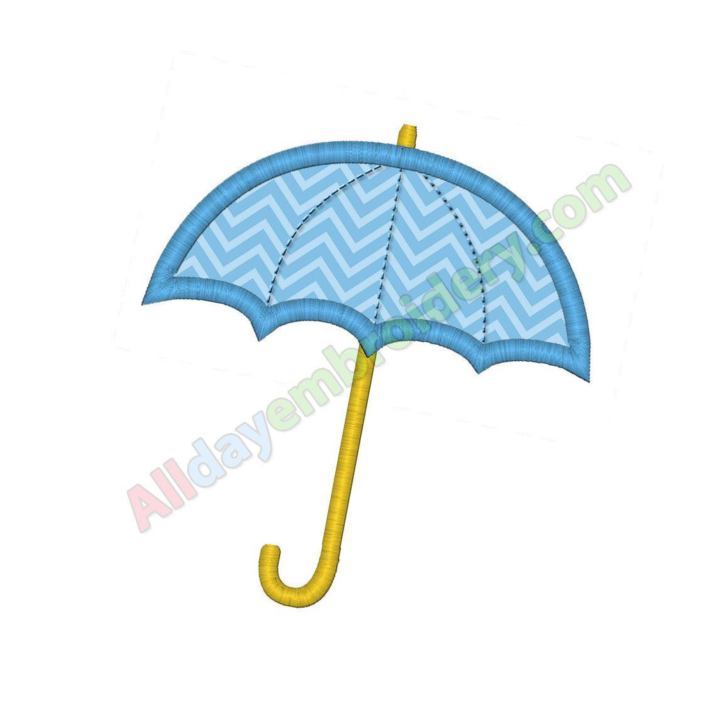 Umbrella applique - Alldayembroidery.com