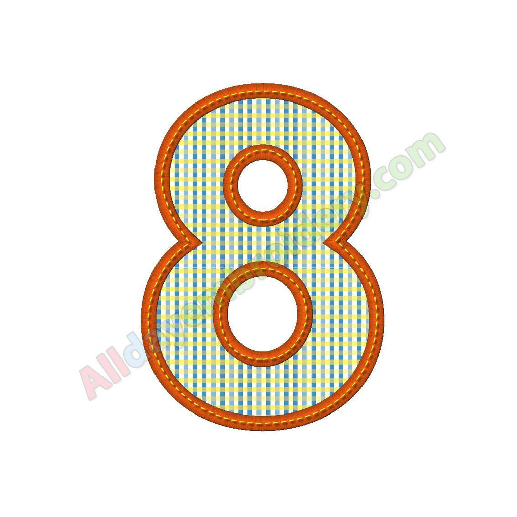Number eight applique