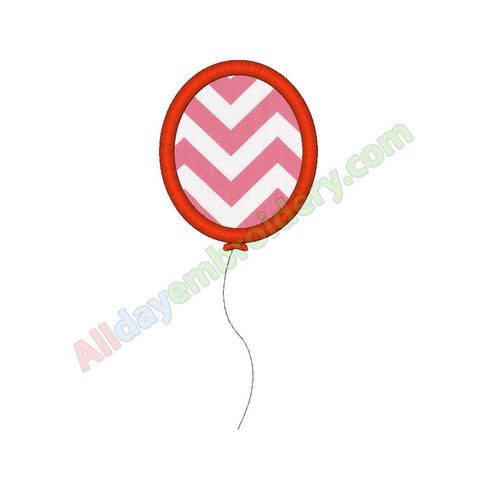 Single balloon applique - Alldayembroidery.com