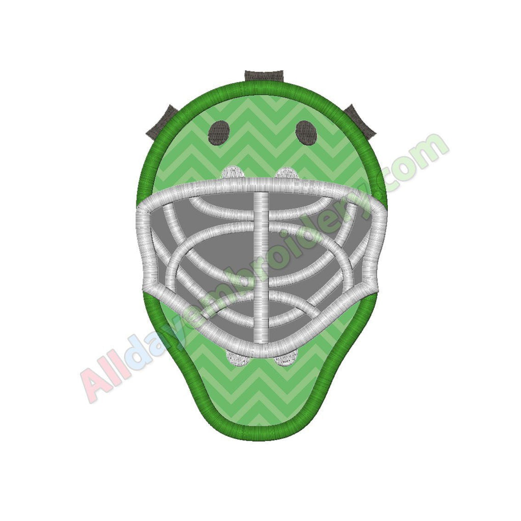 Goalie helmet applique
