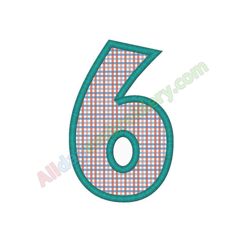 Number six applique