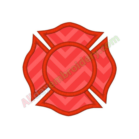Firefighters badge applique