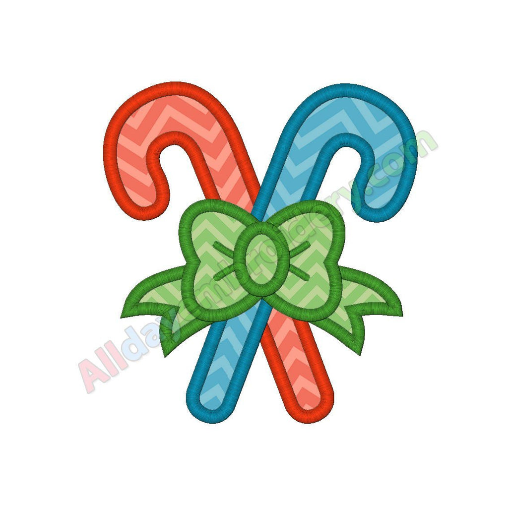 Candy canes applique