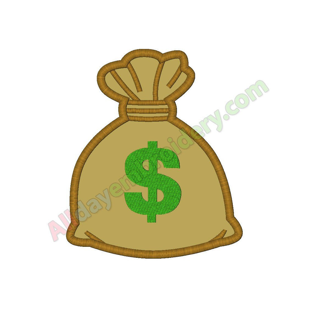 Money bag applique