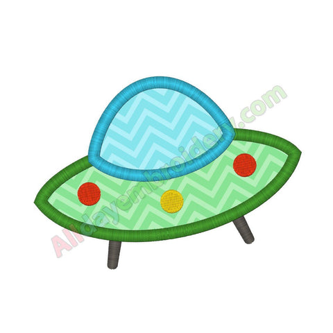 Flying saucer applique