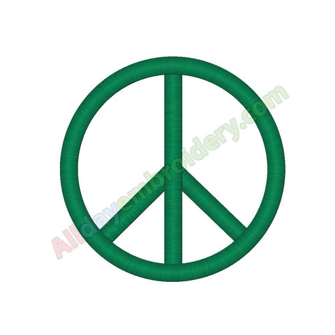 Peace symbol embroidery