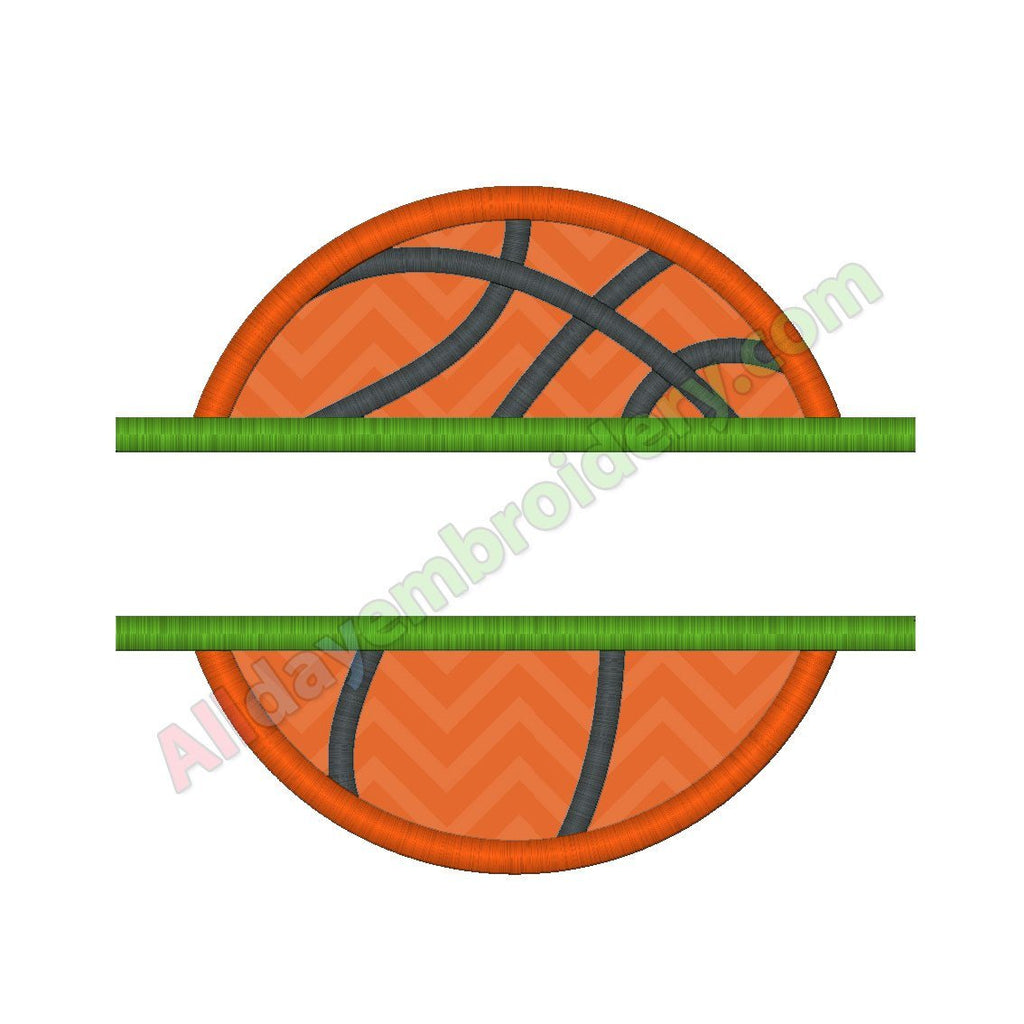 Split basketball applique - Alldayembroidery.com