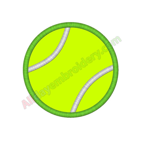 Tennis ball applique - Alldayembroidery.com