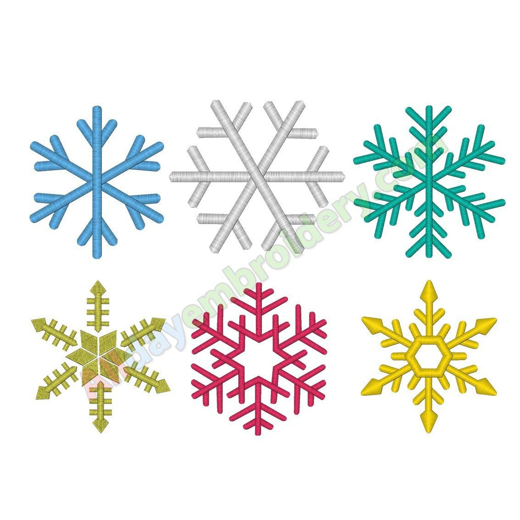Snowflake embroidery pack - Alldayembroidery.com