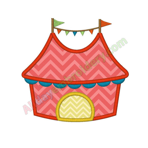 Circus tent applique