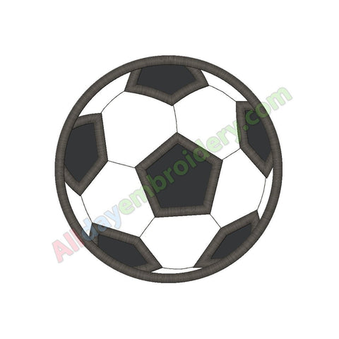 Soccer ball applique (Bean stitch version) - Alldayembroidery.com
