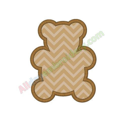 Bear outline applique