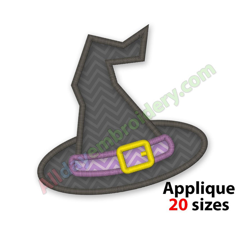 Witches hat applique design