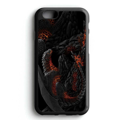 Black Red Fire Dragon iPhone 7 Case