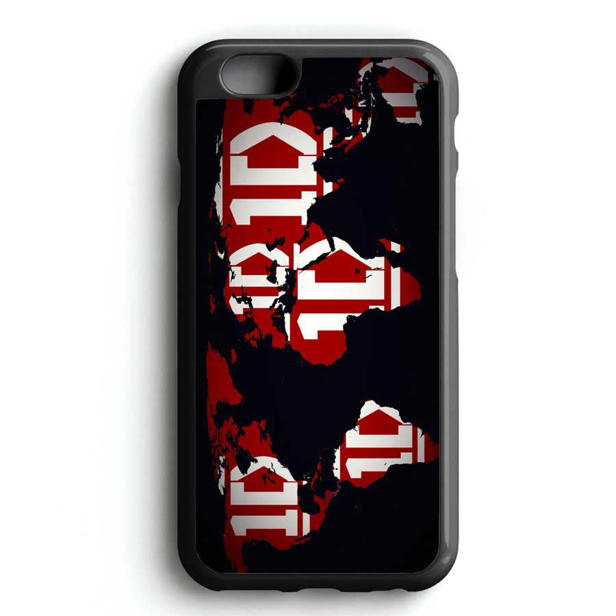 1d World Map iPhone 7 Case
