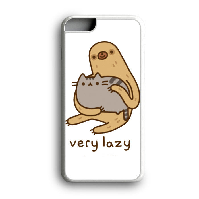 Pusheen Cat And Sloth Very Lazy iPhone 7 Plus
