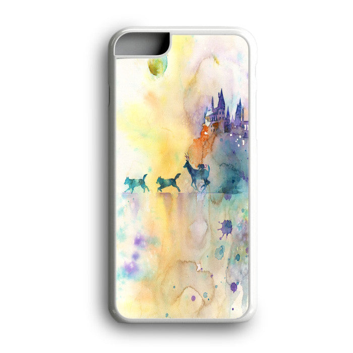 Watercolor Harry Potter The Deathly Hallows Gryffindor Slytherin Hufflepuff Ravenclaw iPhone 7 Plus