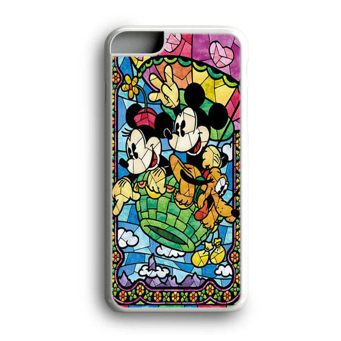 Mickey Mouse Minnie Mouse Stained Glass iPhone 7 Plus
