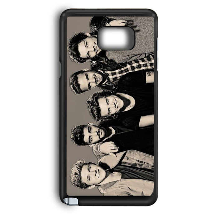 1D One Direction Black And White Samsung Galaxy Note 5