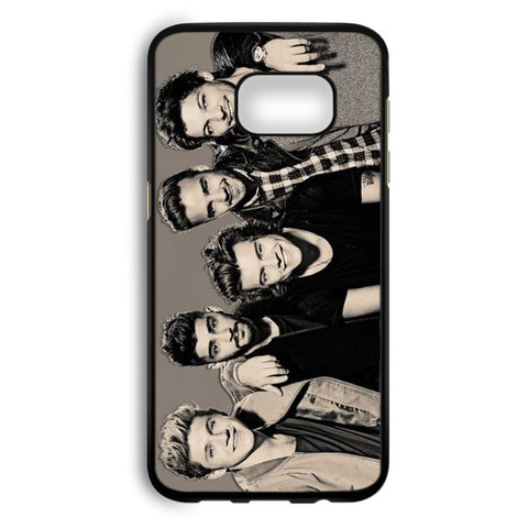 1D One Direction Black And White Samsung Galaxy S7 Edge