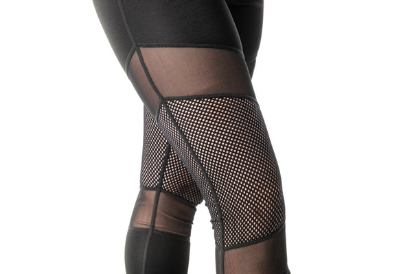 Stretch Sport Leggings with Mesh - Women's (370AW)
