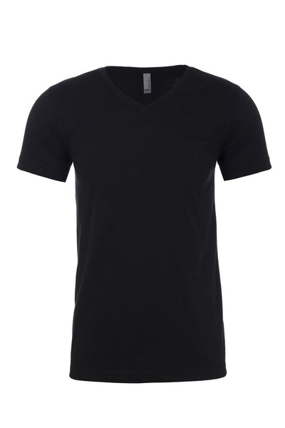 Black V-Neck T-Shirts (AM160)