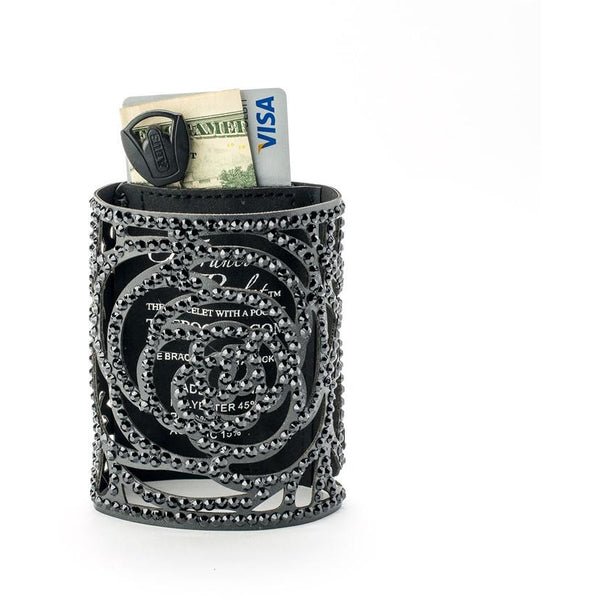 GFranco Poclet - Rose Black with Black Rhinestones