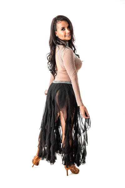 Long Ruffle Dance Skirt (CW150)
