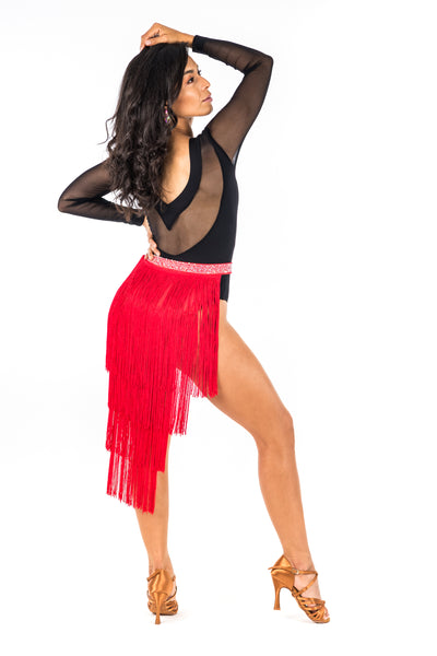 Long Fringe Dance Skirt (CW130)